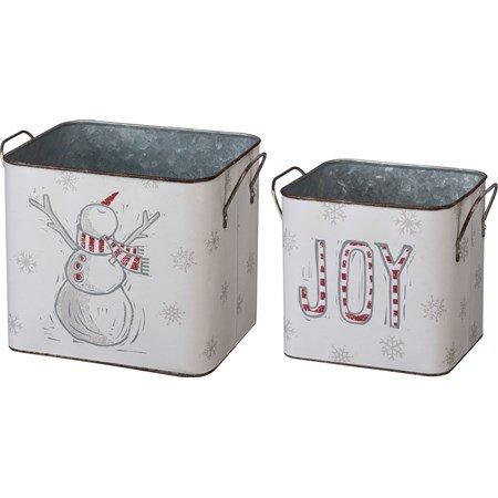 Bin Set - Snowman Joy