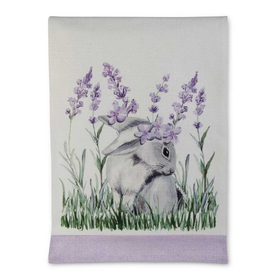 72 Inch Lavender and Bunny Table Runner
