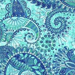 Purr-Suasion Paisley Blue/Green