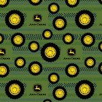 John Deere Tires On Tread Flannel