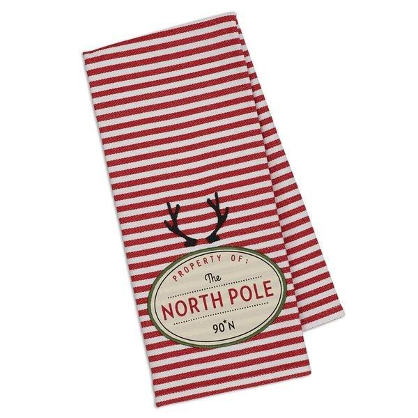 North Pole Embellished Dishtowel