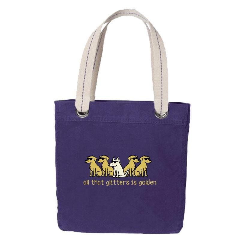 Canvas Tote Purple All That Glitters Is Golden