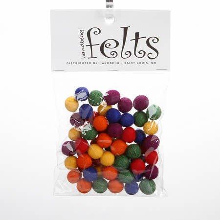 Wool Felted Balls 2 cm