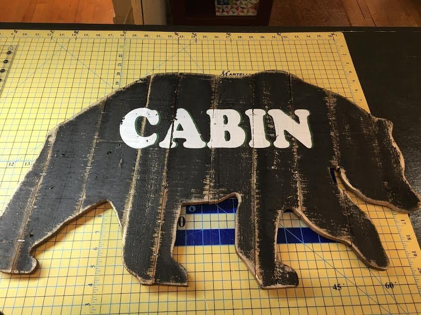 Bear Cabin Sign