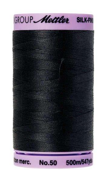 Silk-Finish 50wt Solid Cotton Thread 547yd Black