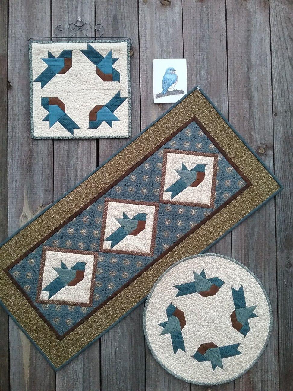 Bluebird Quilts & Card #199