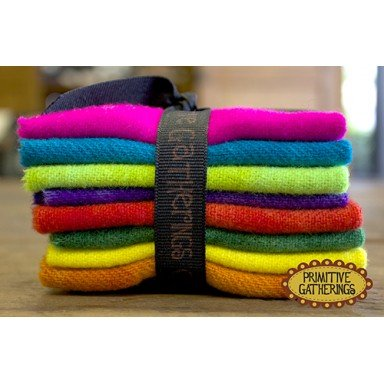 Small Wool Bundle 8pcs-6x8 Brights #1