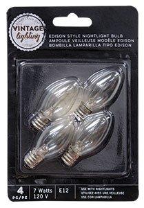 4/pk Edison Nightlight Bulbs 7W