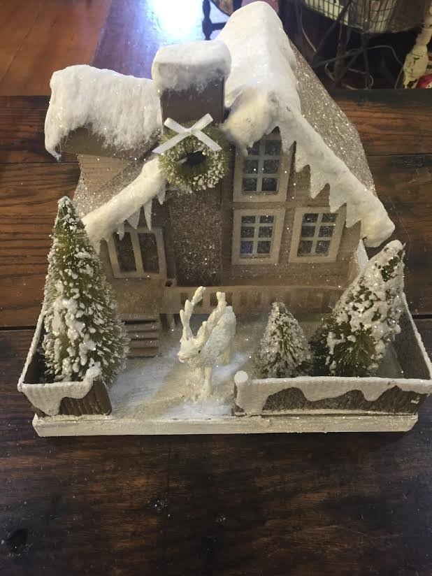 Christmas Cottage in Woods Large 2