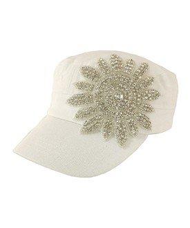 Crystallized Flower Cadet White