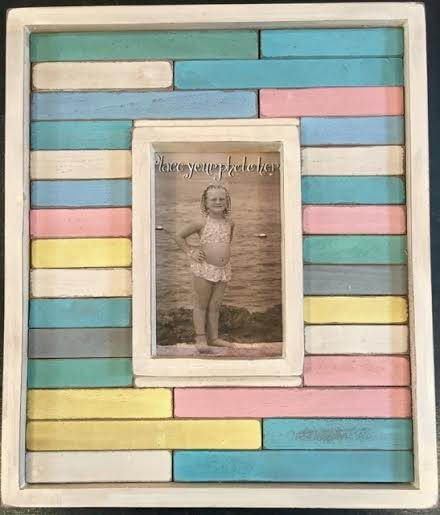Colored Block Picture Frame