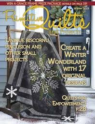 Primitive Quilts & Projects Magazine Winter 2019