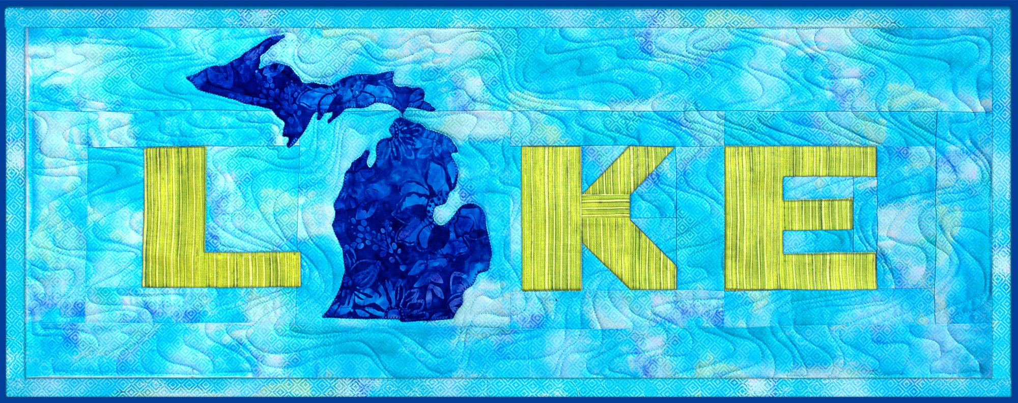 Lake Kit with Pattern Turquoise/Blue/Green