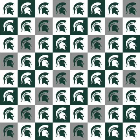 Michigan State Spartans Squares Digitally Printed