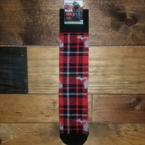 Michigan Buffalo Plaid Crew Sock Adult