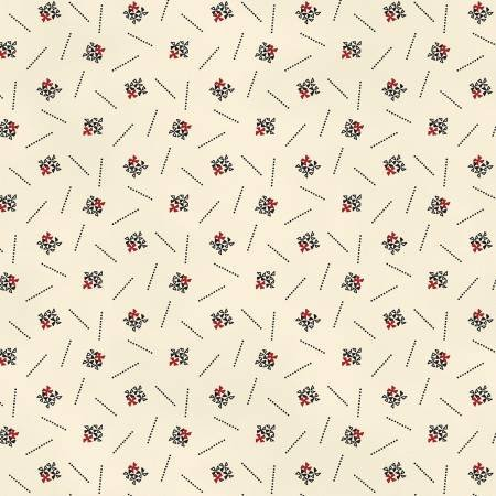 Ecru/Black Classic Shirtings Reproduction Print