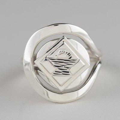 Sterling Silver Basket Quilt Block Ring