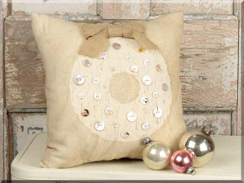 Rustic Chic Wreath Pillow