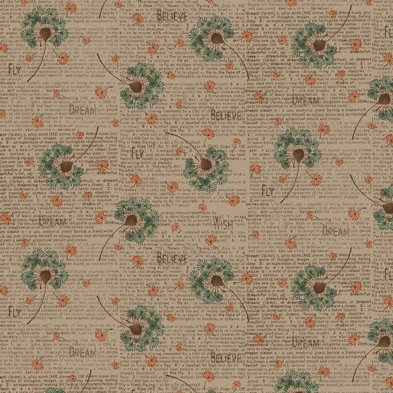 Khaki Dandelion Toss 2144-34
