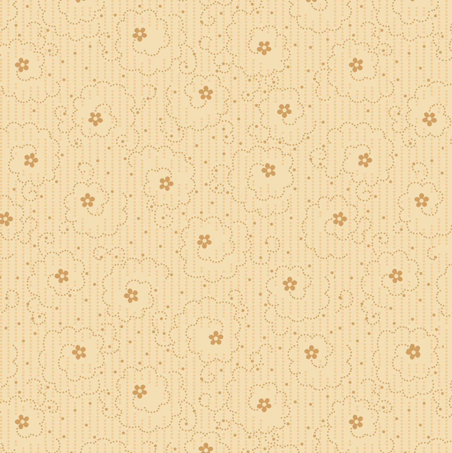 Dotted Flower Swirl 8570-44 Cream