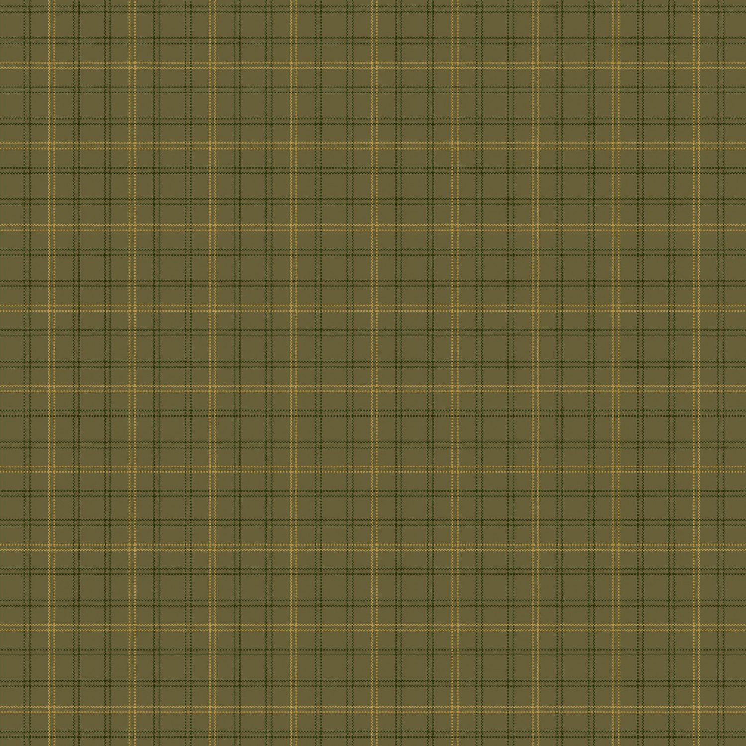 Autumn Song Green plaid homespun 8797Y-66