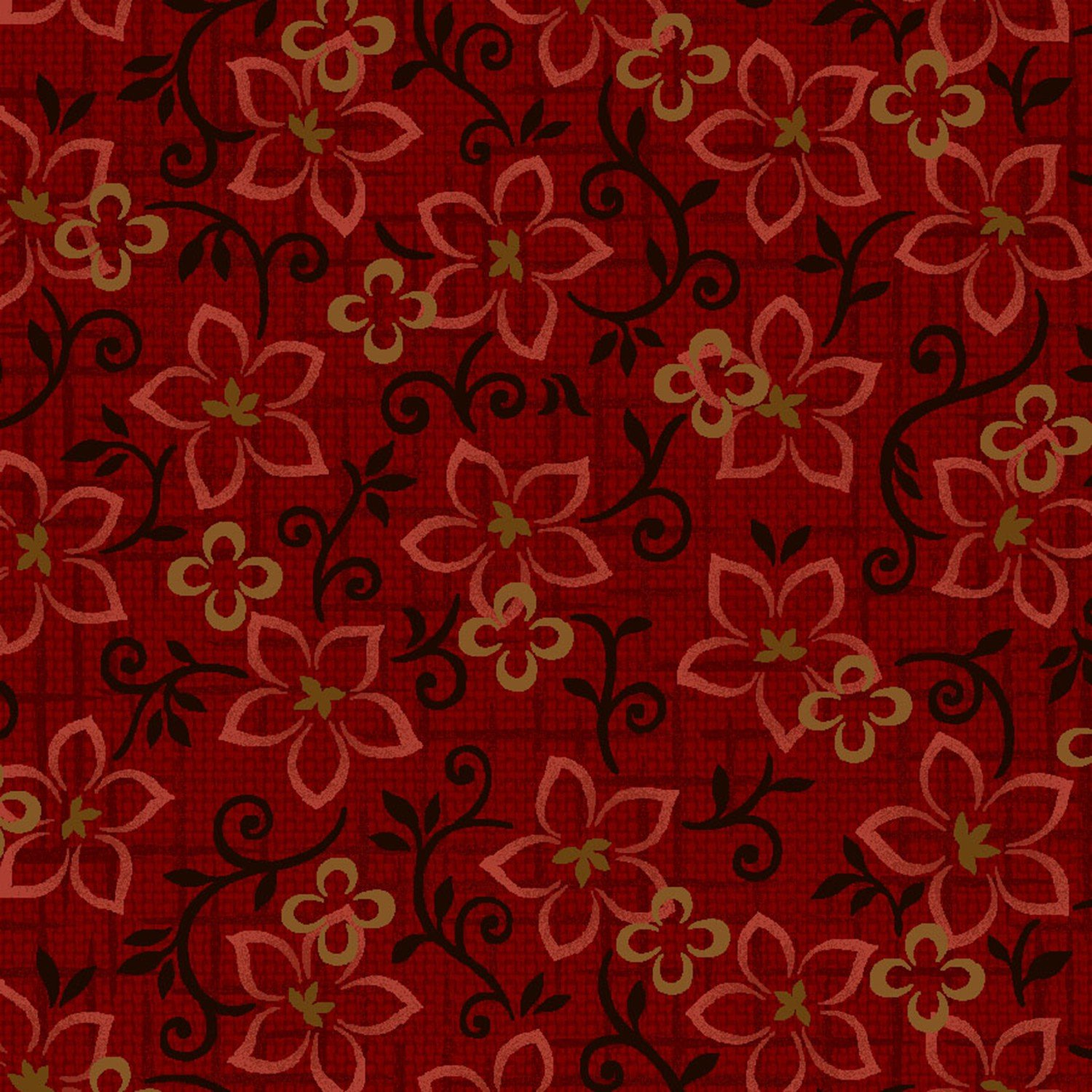 Floral Toss Red 8834-88