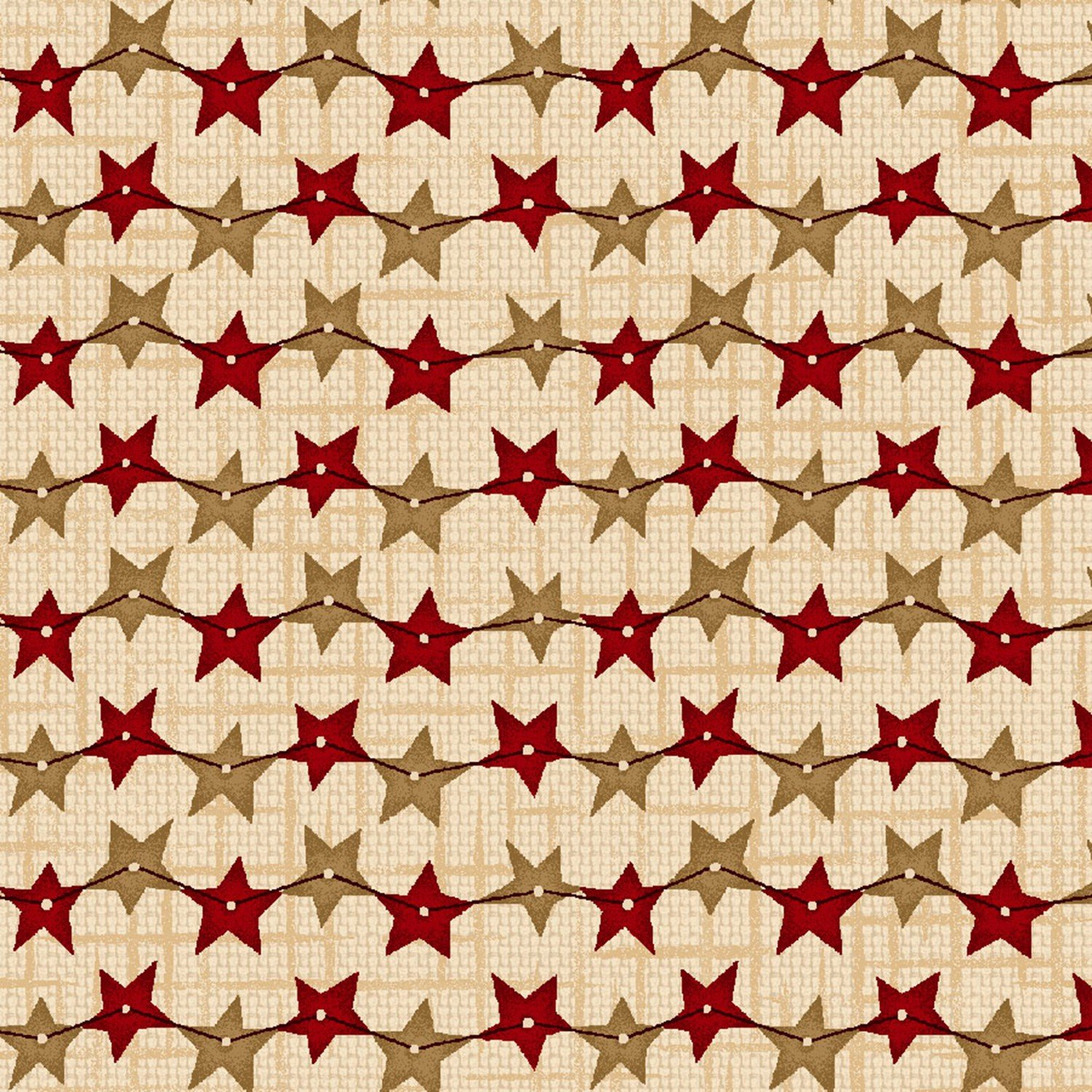 String of Stars Cream 8837-44