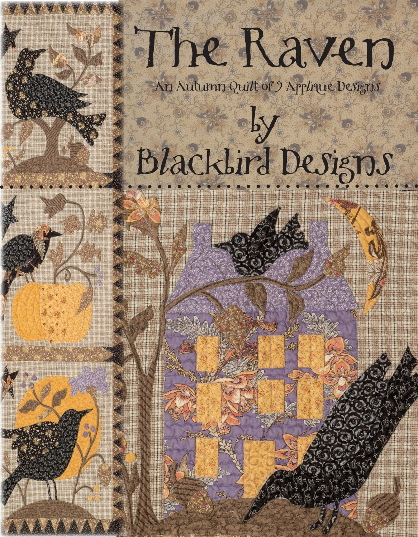 The Raven - An Autumn Quilt of 9 Applique Designs