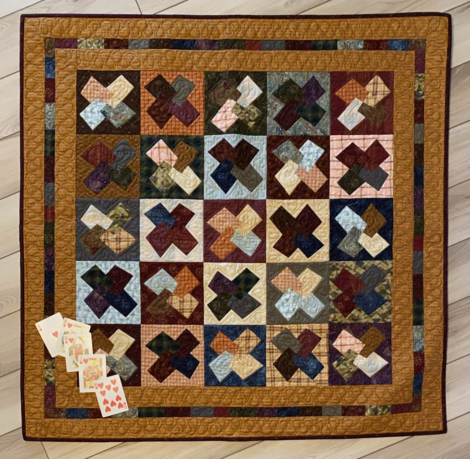 One Crazy Sister Club3 Hugs and Kisses kit with  pattern