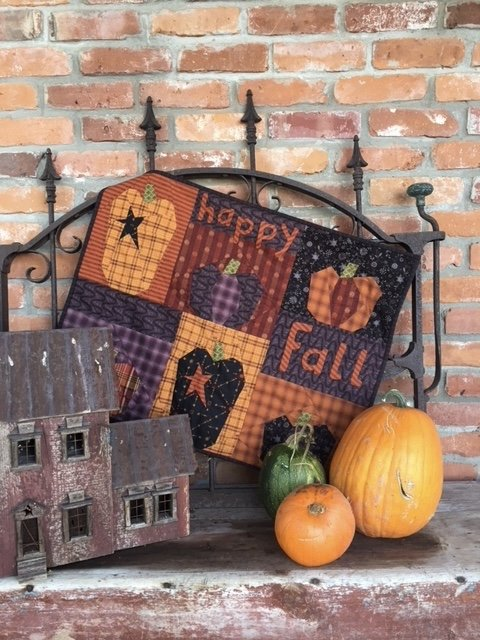 One Crazy Sister Club project #2: Happy Fall kit with Pattern