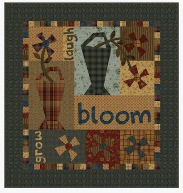 One Crazy Sister Club project #1:  Laugh Bloom Grow kit with Pattern