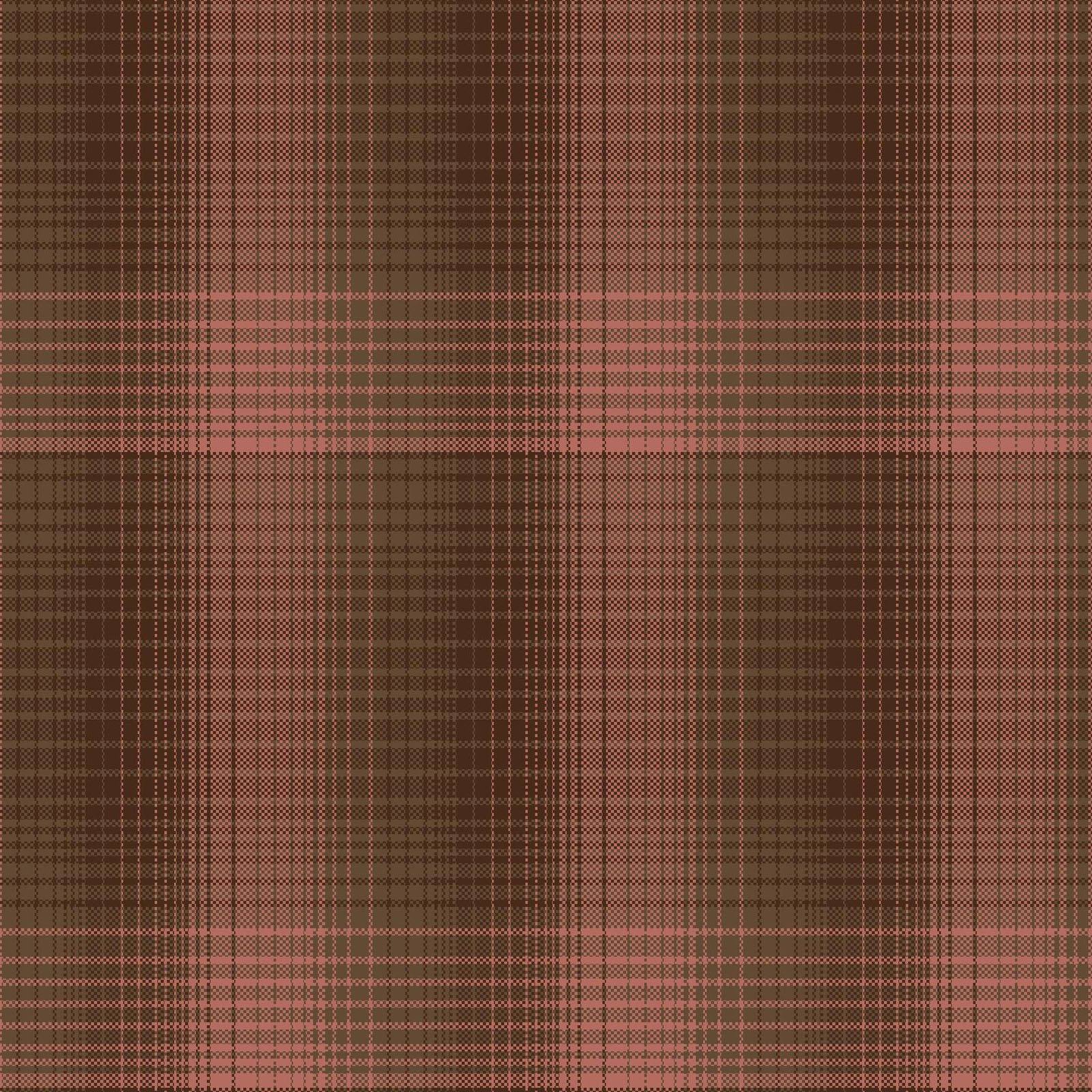 Cherry Blossoms Pink & Brown Plaid 8686Y-23