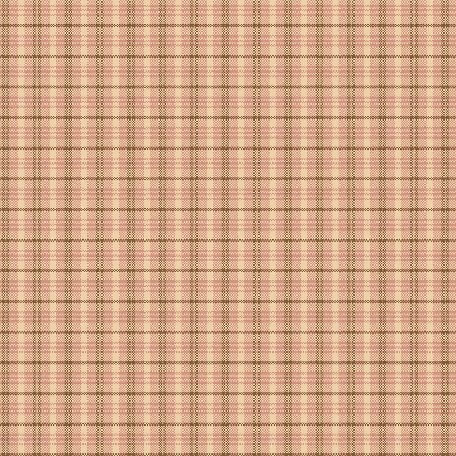 Cherry Blossoms Light Pink Plaid 8688Y-22