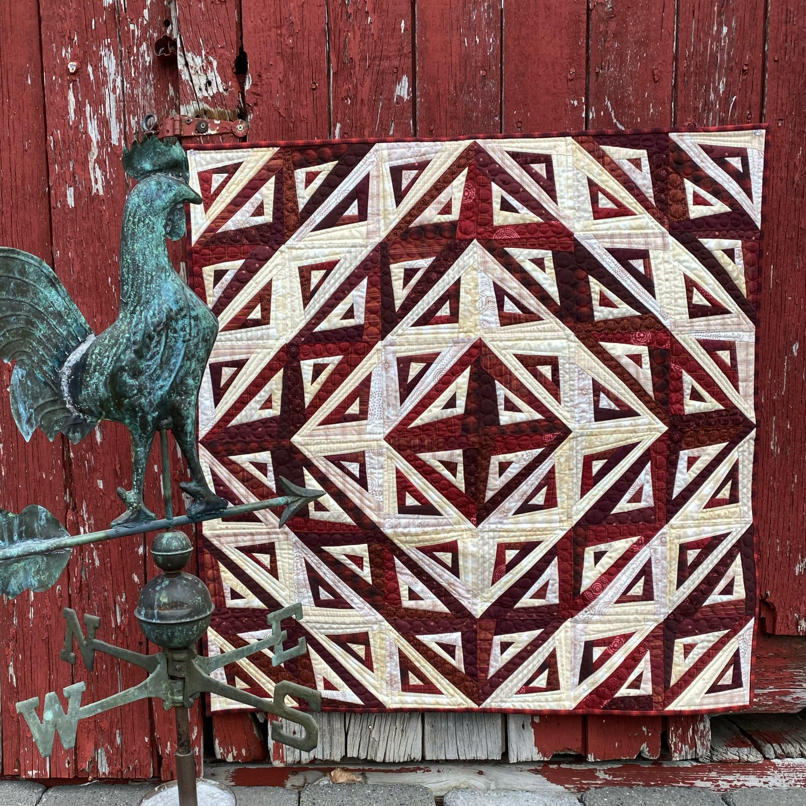 One Crazy Sister Club 3 Barn Raising Kit with pattern
