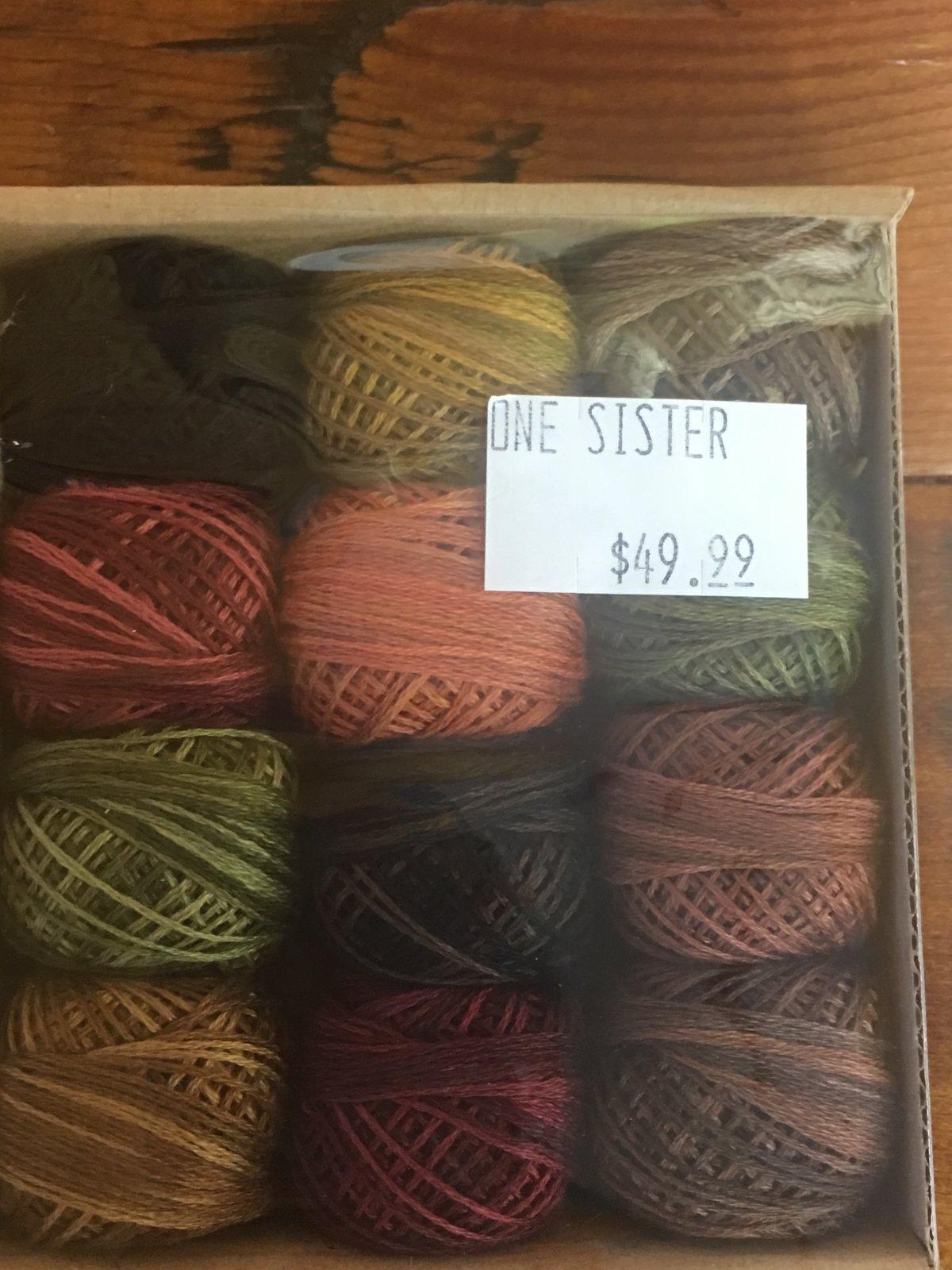 VALDANI Threads 3-Strand cotton floss Vintage Summer's Delight - SET OF 12 SKEINS