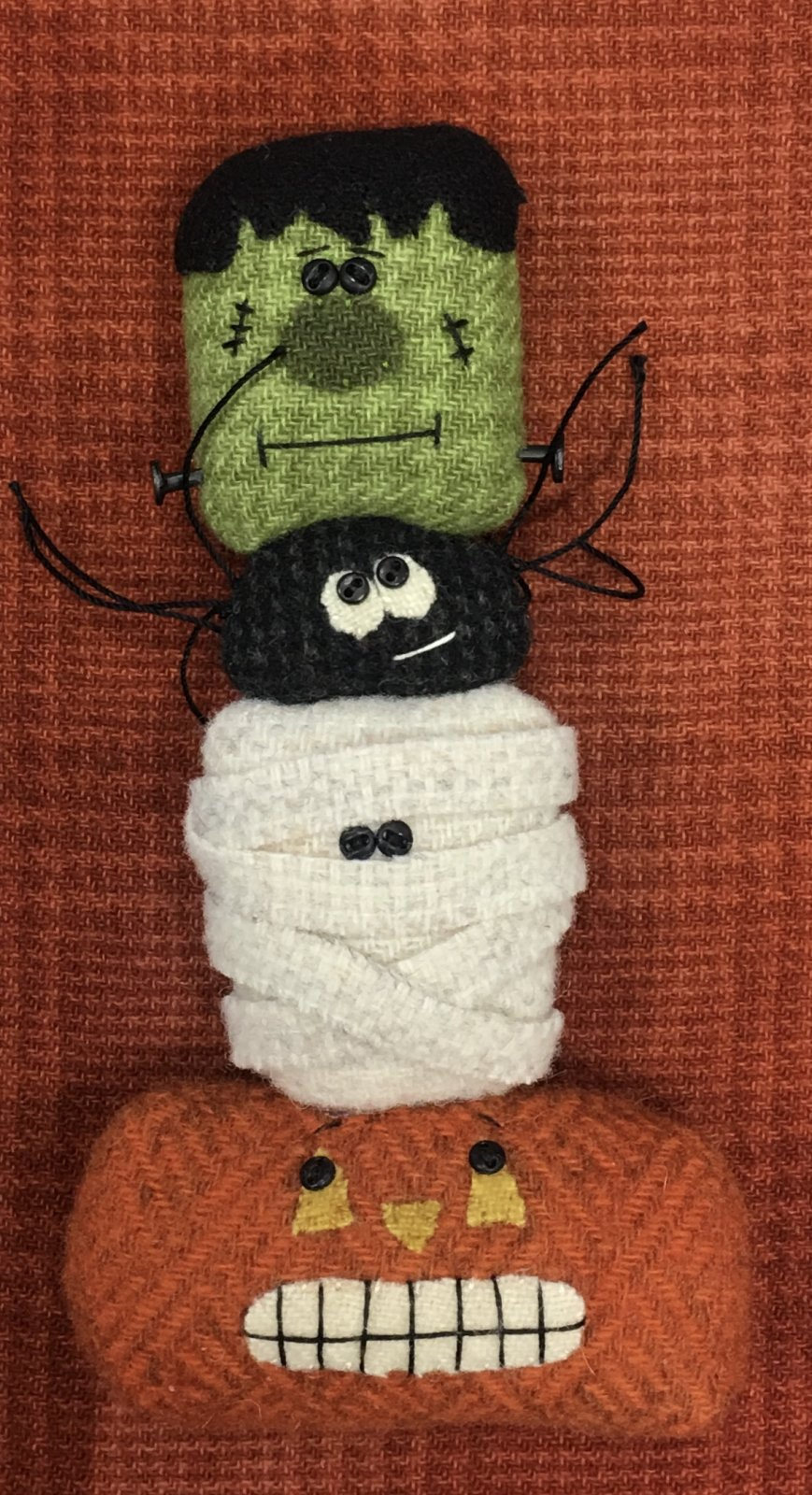 Scary Halloween Kit with pattern