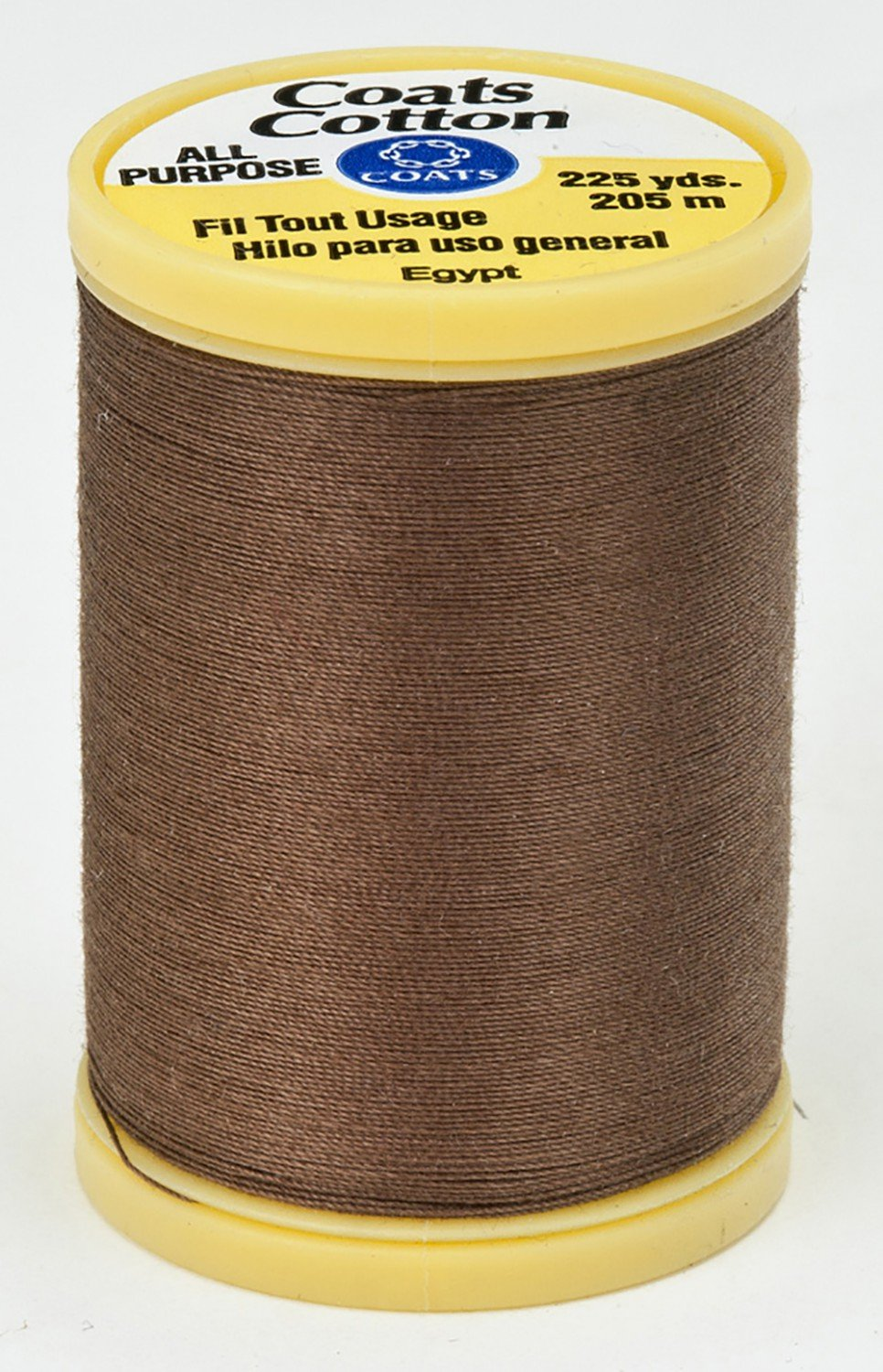 Summer Brown All Purpose Thread 225yd for wool applique
