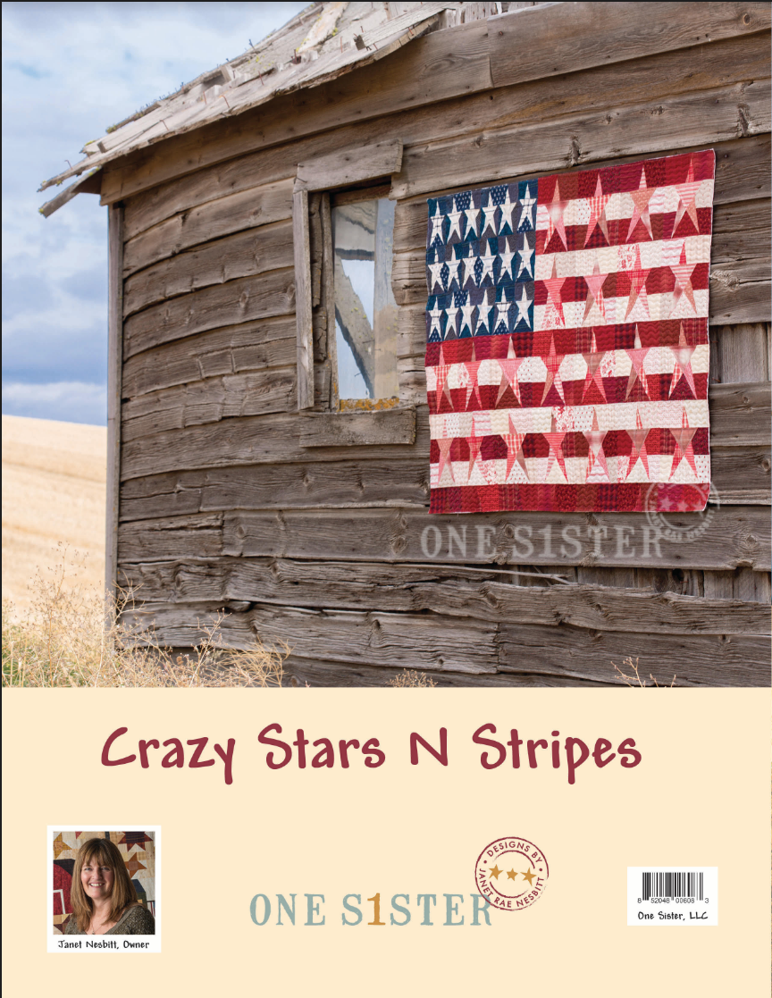 Crazy Stars & Stripes PLUS Bonus Quilt