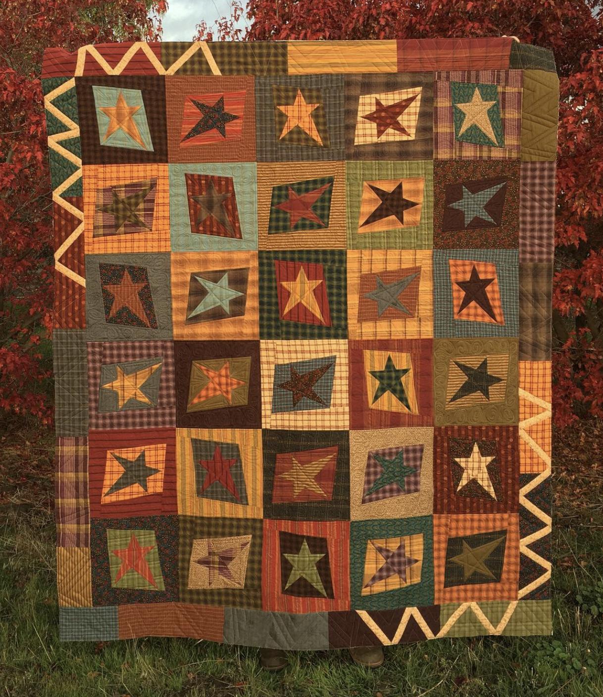 Aussie Stars(Primitive Colors) kit with pattern