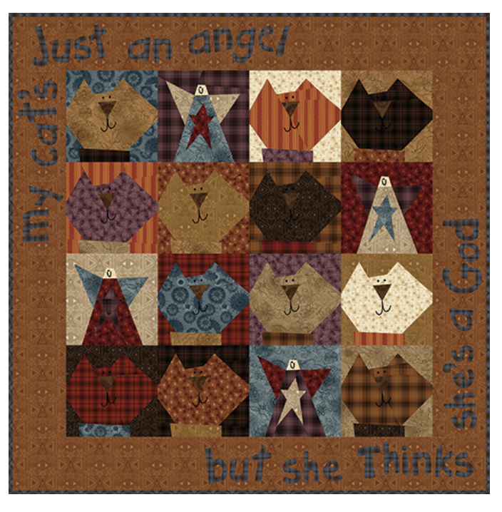 One Crazy Sister Club 2 Cats are Angels Too Kit #5 with Pattern