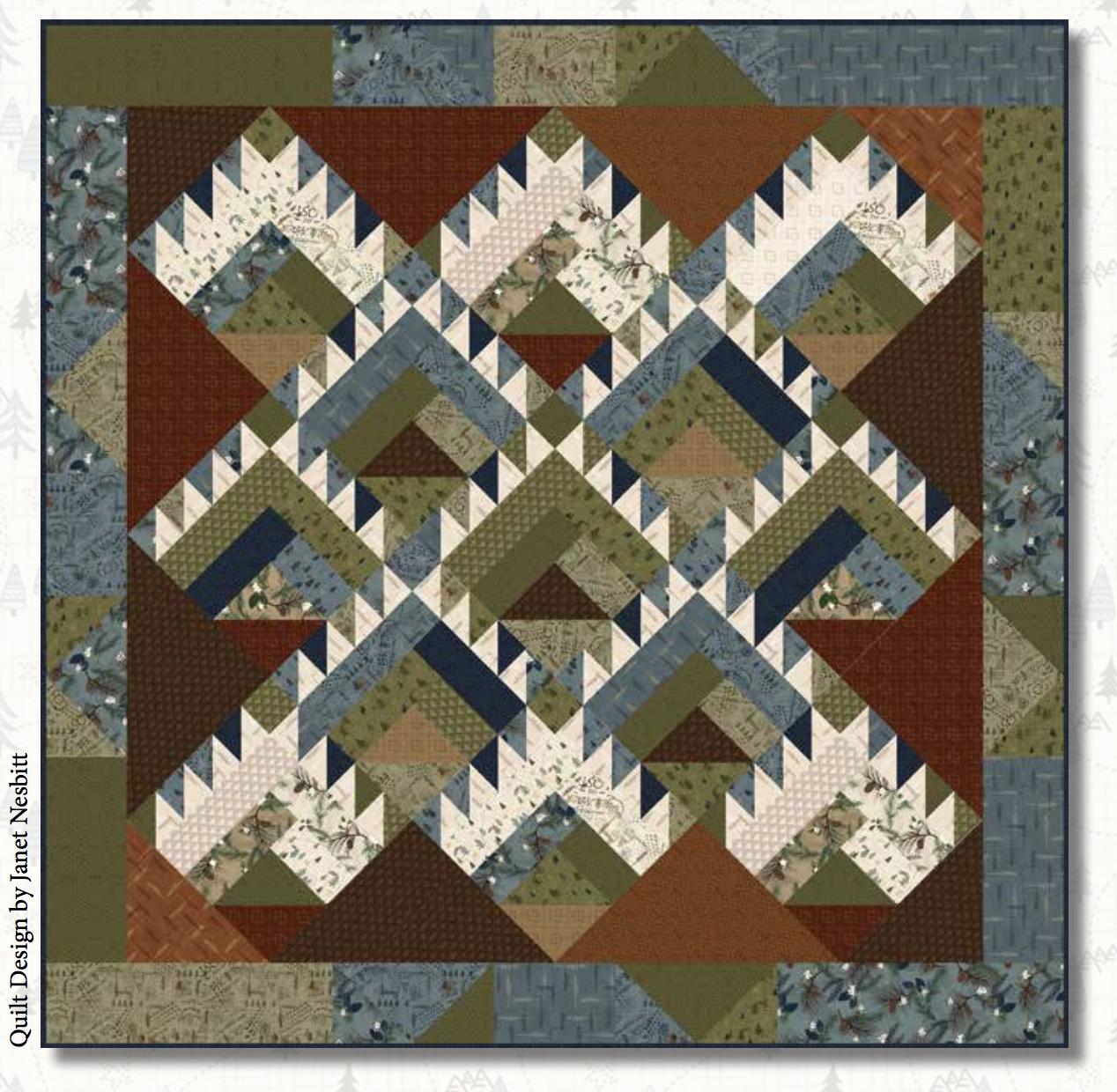 Folk Art Flannel 4 Quilt 1 Kit