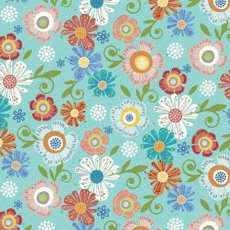 Floral Aqua - Home Grown