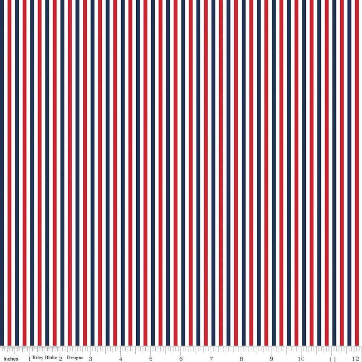 Stripe 1/8 Inch Color Patriotic