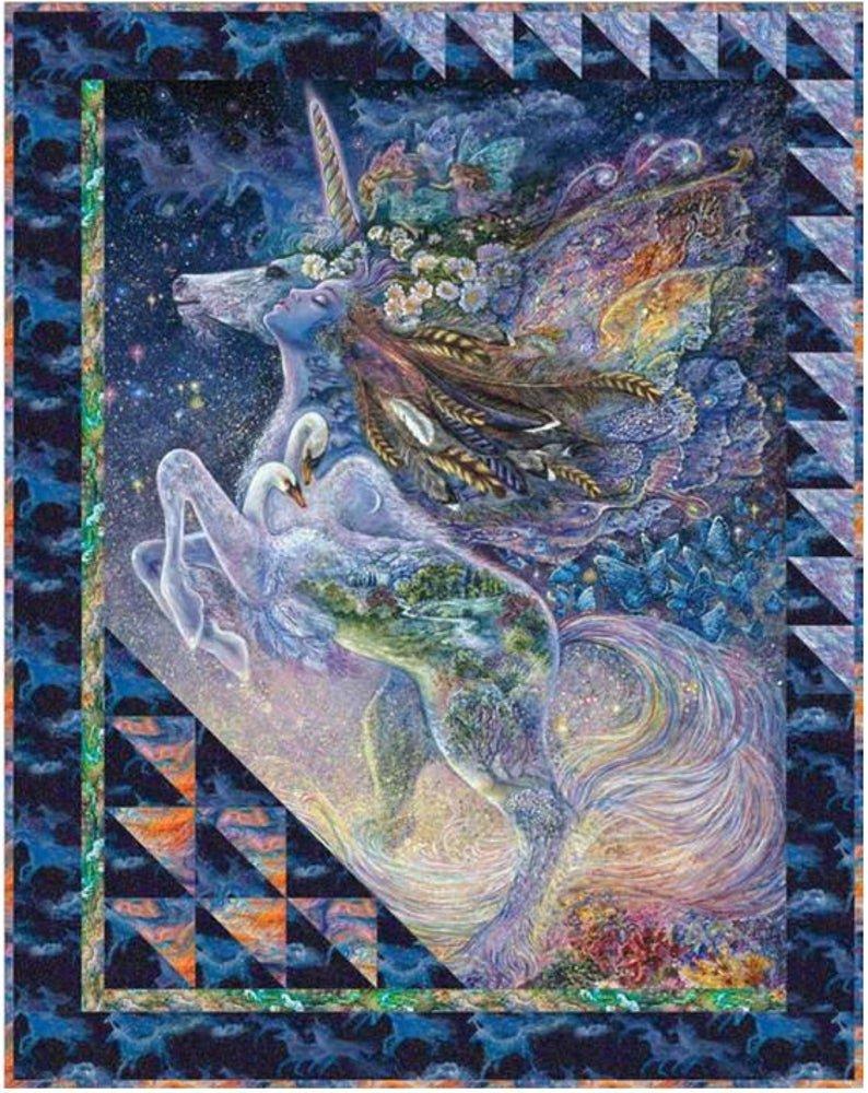 Celestial Journey Unicorn Quilt