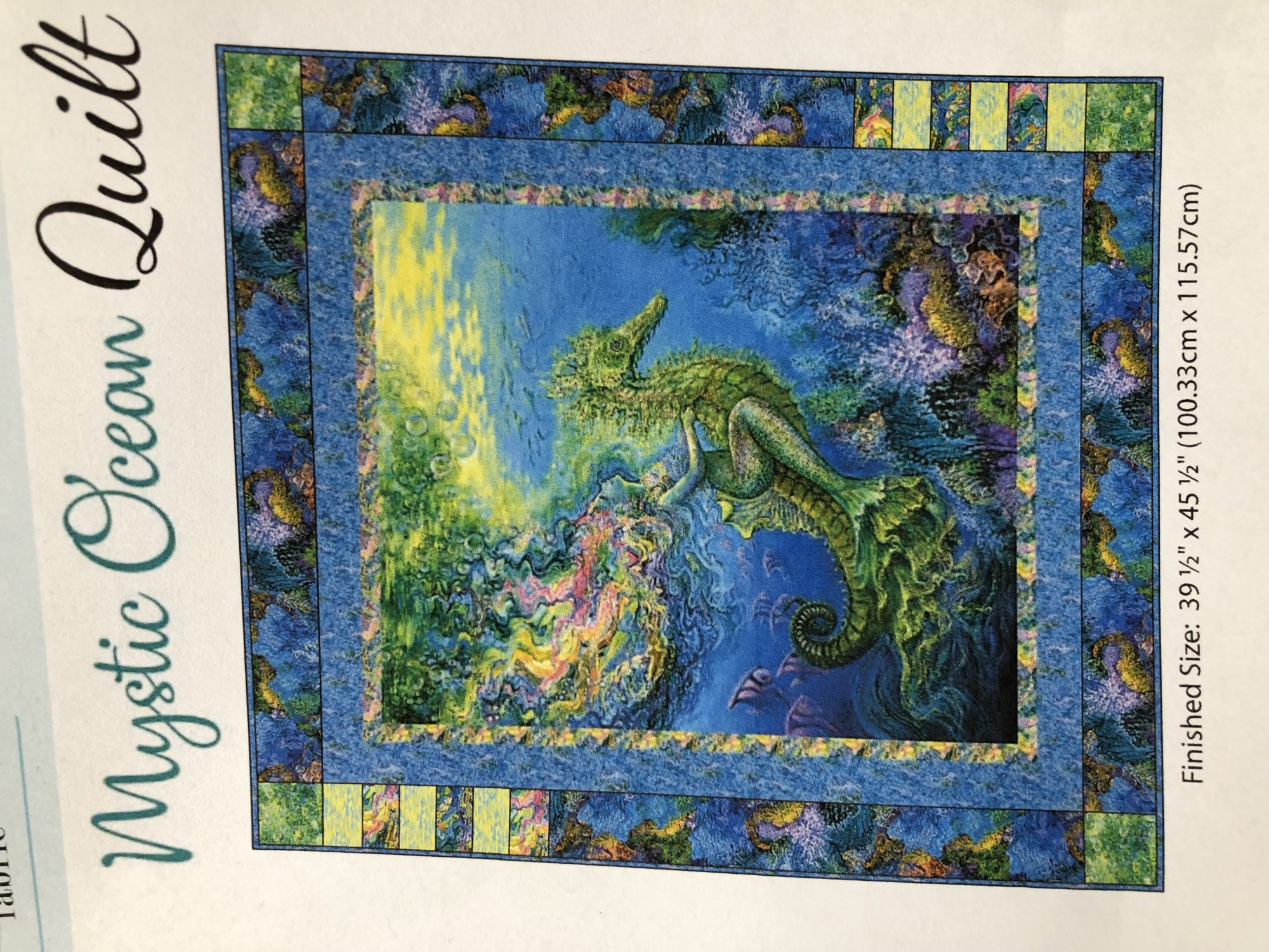 Mystic Ocean Quilt Kit with Reflection Backing