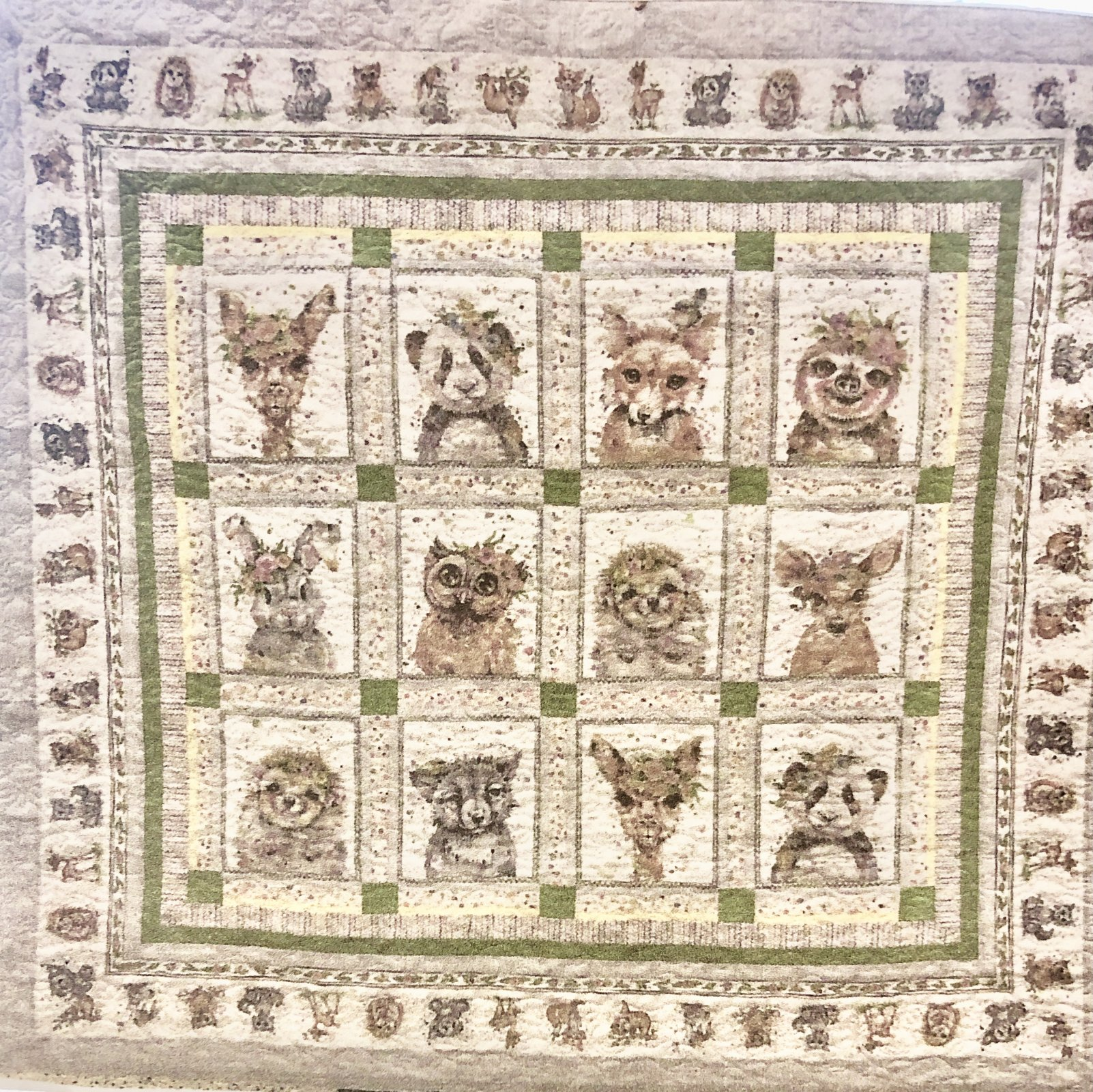 Little Darlings Quilt Kit (Back and Binding included) Green