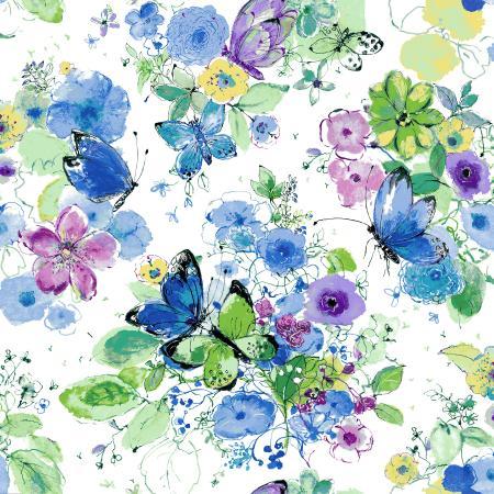 Bloom Bloom Butterfly - Meadowland - Iris Fabric