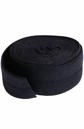 Fold-over Elastic 3/4in x 2yd Black