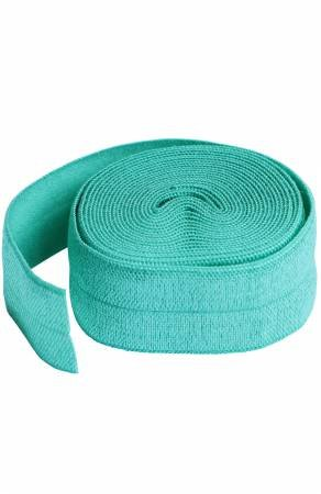 Fold-over Elastic 3/4in x 2yd Turquoise