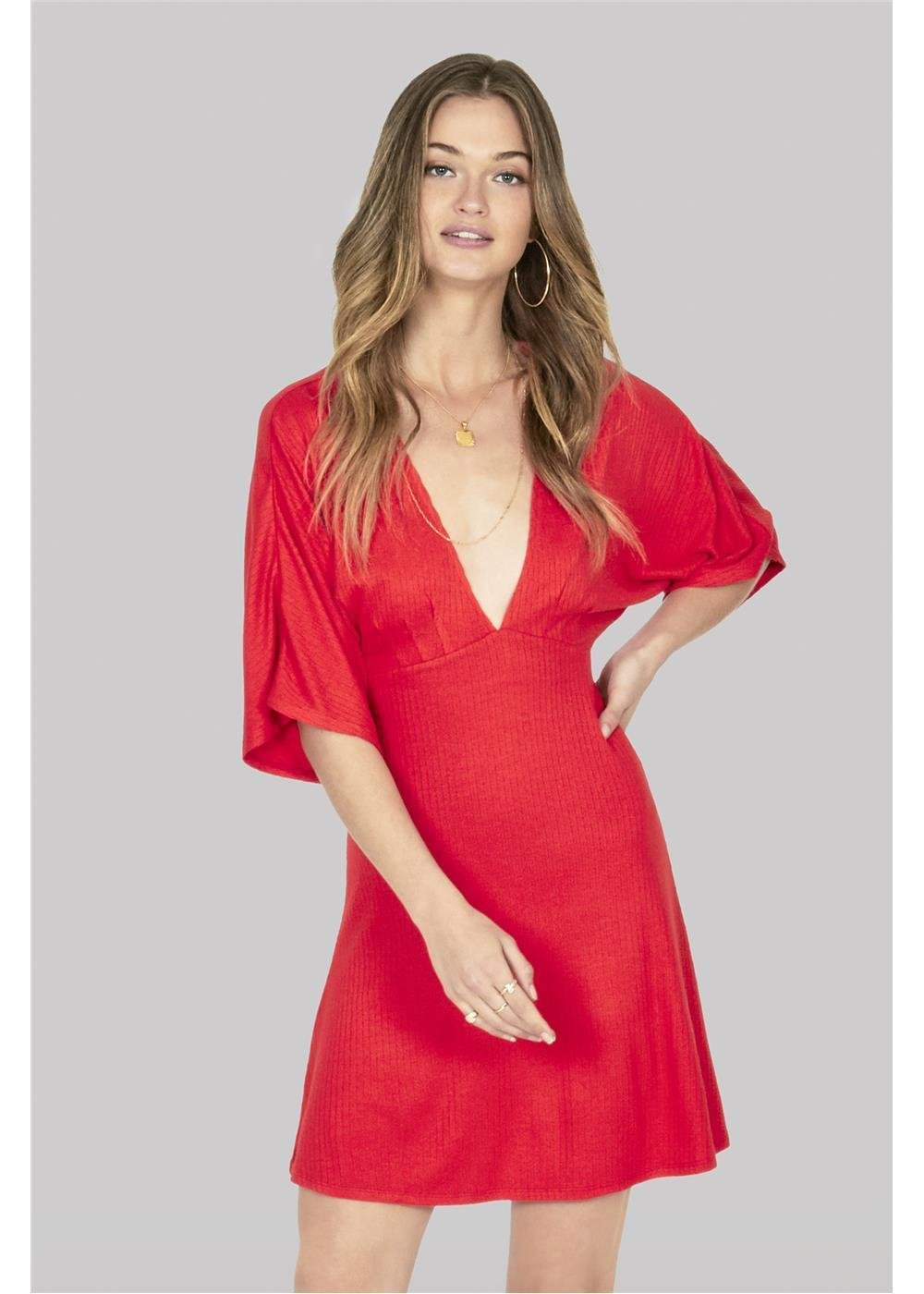 Amuse Society Belleza Dress Red